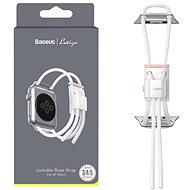 Baseus Lockable Rope Strap pro Apple Watch 38mm / 40mm White&Pink - Szíj