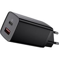 Hálózati adapter Baseus GaN2 Lite gyorstöltő USB + USB-C 65W Fekete