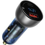 Baseus Digital Display PPS Dual Quick Car Charger 65 W Light Ochre - Autós töltő
