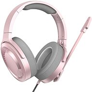 Baseus GAMO Immersive Virtual 3D Gaming Headphones Pink - Gamer fejhallgató