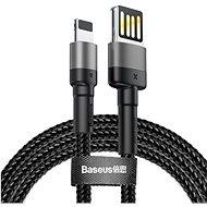 Baseus Cafule Lightning Cable Special Edition 2.4A 1M Gray+Black - Adatkábel