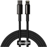 Baseus Tungsten Gold Fast Charging Data Cable Type-C to Lightning PD 20W 2 m Black - Adatkábel