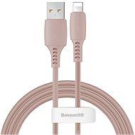 Baseus Colourful Lightning Cable 2.4A 1.2m Pink - Adatkábel