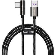 Baseus Elbow Fast Charging Data Cable USB to Type-C 66W 2 m Black - Adatkábel