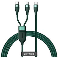 Baseus Flash Series Fast Charging Data Cable Type-C to Dual USB-C 100W 1.5 m Green - Adatkábel