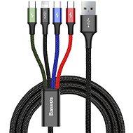 Baseus Fast 4 in 1 Lightning + USB-C + 2x MicroUSB Cable 3.5A 1.2M Black - Tápkábel
