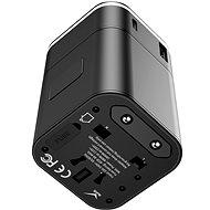 Baseus cserélhető 2 az 1-ben univerzális utazási adapter PPS Quick Charger Edition fekete