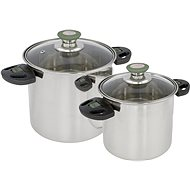 Bo-Camp Cookware set Elegance Compact 2 Stainless steel - Kemping edény