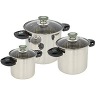Bo-Camp Cookware set Elegance Compact 3 Stainless steel - Kemping edény