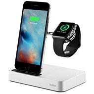 Valet Belkin Charge Dock Apple Watch + iPhone számára, ezüst - Dokkoló