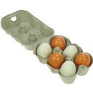 Játék szett Fa élelmiszerek - Fa tojások kartonban - Herní set