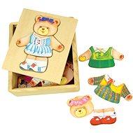 Bigjigs Fa öltöztető puzzle dobozban - Mackó néni