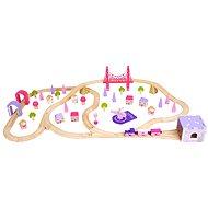 Bigjigs Fa vonat készlet hercegnőknek - Kisvasút