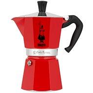 Bialetti Moka Color háromszemélyes, piros - Kotyogós kávéfőző
