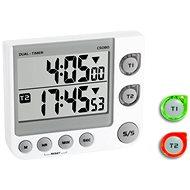 Digitális perc figyelő - időzítő és stopper - a TFA38.2025 két idő - Konyhai időzítő