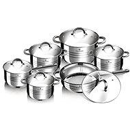 Blaumann rozsdamentes acél edény szett 12 db Gourmet Line BL-1410 - Edénykészlet