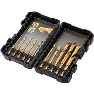 Vas fúrószár készlet DeWALT - 10 részes titán fémfúrószár készlet, hatszög befogású, 3 mm, 3,2 mm, 3,5 mm, 4 mm, 4, - Sada vrtáků do železa