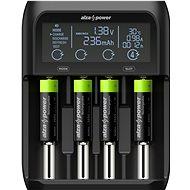 AlzaPower AP450B USB akkumulátor töltő + Újratölthető HR6 (AA) 2500 mAh 4db - Elem töltő