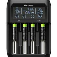 AlzaPower AP450B USB akkumulátor töltő + Újratölthető HR03 (AAA) 1000 mAh 4db - Elem töltő