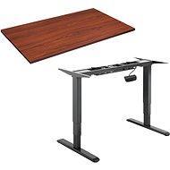 AlzaErgo Table ET1 NewGen fekete + TTE-01 barna furnér asztallap 140x80 cm