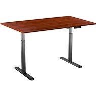 AlzaErgo Table ET2 fekete + TTE-01 barna furnér asztallap 140 x 80 cm