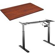 AlzaErgo Table ET2 fekete + TTE-03 barna furnér asztallap 160 x 80 cm