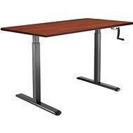 AlzaErgo Table ET3 fekete + TTE-01 barna furnér lap 140 x 80cm