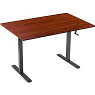 AlzaErgo asztal ET3 fekete + tábla TTE-03 160 x 80cm barna furnér