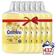 COCCOLINO Happy Yellow 6 × 1,8 l (432 mosás) - Öblítő