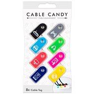 Cable Candy Tag  8 db több színben - Kábel rendező