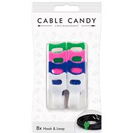 Cable Candy Hook and Loop 8 db több színben - Kábel rendező