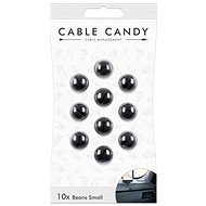 Cable Candy Small Beans 10 db fekete - Kábel rendező