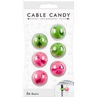 Cable Candy Bab 6 db zöld és rózsaszín - Kábel rendező