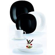 Luminarc CARINE 30 db-os étkészlet fehér/fekete - Étkészlet