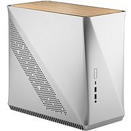 Fractal Design Era ITX Silver - White Oak - Számítógépház