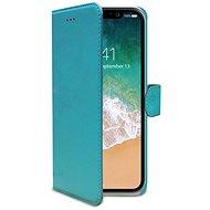 CELLY Wally tok Apple iPhone X készülékekhez türkiz - Mobiltelefon tok