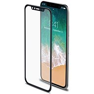Celly Glass iPhone X védő üvegfólia, fekete