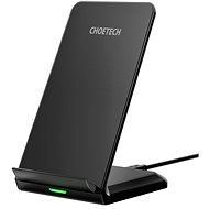 ChoeTech Wireless Fast Charger Stand 10W Black - Vezeték nélküli töltő