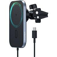ChoeTech Magnetic Holder Wireless Car Charger 15W Black - Vezeték nélküli töltő