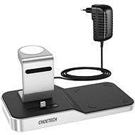 Vezeték nélküli töltő ChoeTech 4 in 1 MFi Wireless Charging Dock for iPhone + Apple Watch + AirPods