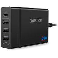 ChoeTech Multi-Charge USB-C PD 60W + 3x USB-A töltőállomás - Hálózati adapter