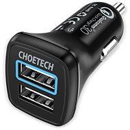 ChoeTech Quick 2x QC3.0 USB-A Car Charger Black - Autós töltő
