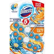 DOMESTOS Power 5 Blue Lotus & Orange 2× 55 g - WC blokk