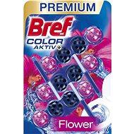 BREF Blue Aktiv Fresh Flower WC tisztító és illatosító 3 x 50 g - WC blokk