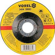 Csiszolókorong Vorel fémkerék 115 x 22 x 6,0 mm konvex csiszolás - Brusný kotouč
