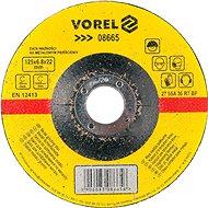 Csiszolókorong Vorel fémkerék 125 x 22 x 6,8 mm konvex csiszolás - Brusný kotouč