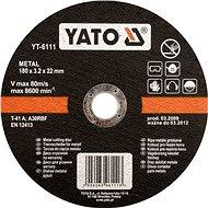 Vágótárcsa Yato fémtárcsa 115 x 22 x 1,2 mm - Řezný kotouč