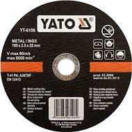 Vágótárcsa Yato fémtárcsa 125 x 22 x 2,5 mm INOX