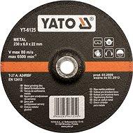 Vágótárcsa Yato fémkerék 125 x 22 x 6,0 mm konvex csiszolás - Řezný kotouč