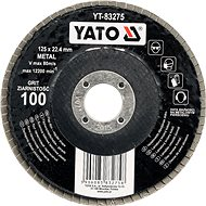 Lamellás korong Yato Lamellar csiszolókorong fémhez 125x22,4mm P80 - Lamelový kotouč